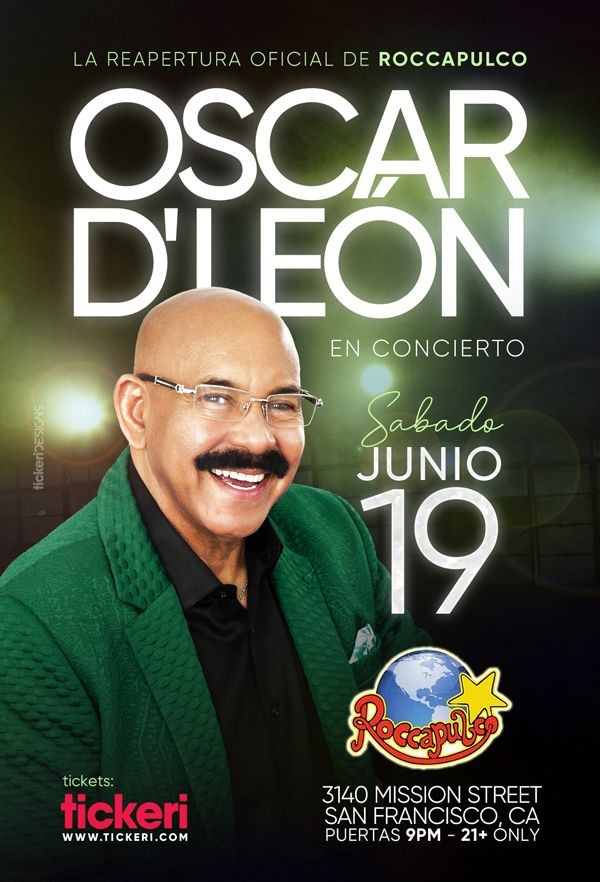 Flyer for OSCAR D' LEON EN SAN FRANCISCO