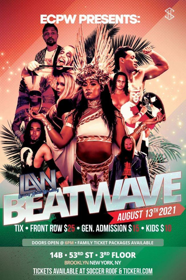 Flyer for ECPW present wrestling Summer's Beatwave