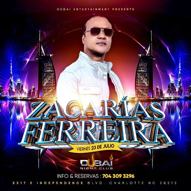 Flyer for Zacarias Ferreira en Dubai Night Club!