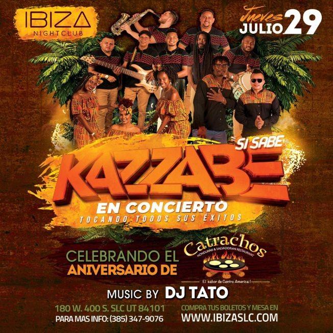 Flyer for Kazzabe Si Sabe en Concierto en Ibiza Night Club!