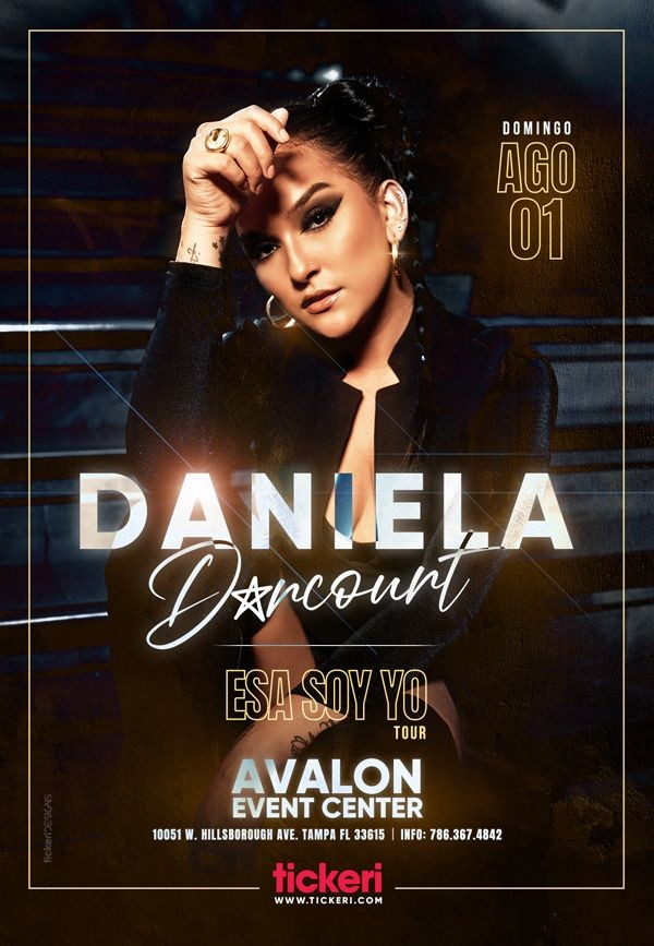 Flyer for DANIELA DARCOURT EN TAMPA, ESA SOY YO TOUR