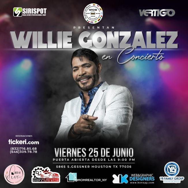 Flyer for WILLIE GONZALEZ EN CONCIERTO
