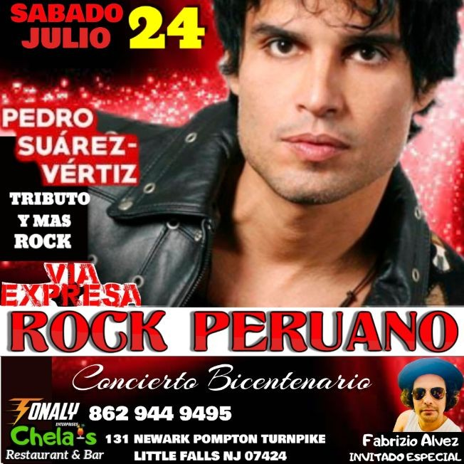 Flyer for CONCIERTO TRIBUTO A PEDRO SUAREZ VERTIZ Y MAS ROCK PERUANO