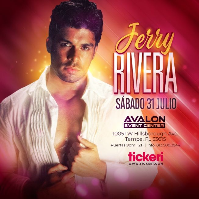 Flyer for JERRY RIVERA EN TAMPA