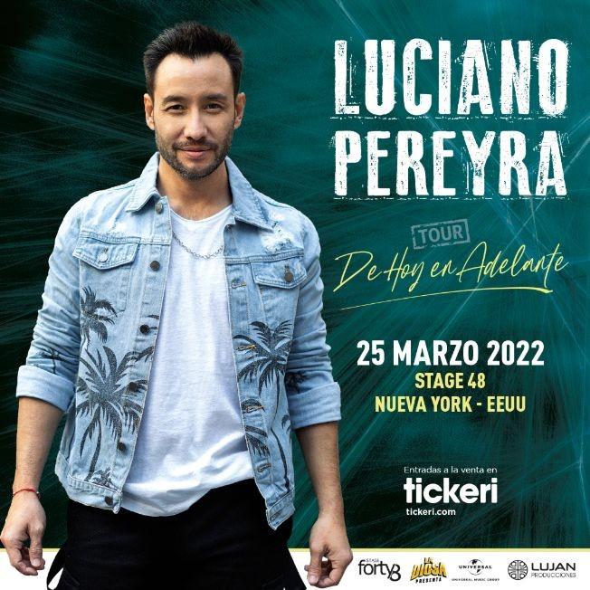 Flyer for LUCIANO PEREYRA EN NEW YORK