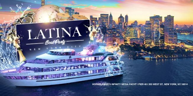 Flyer for *SOLD OUT* OFFICIAL Latina Friday Night Boat Party on Luxurious Yacht Cruise Infinity