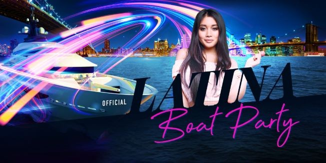 Flyer for OFFICIAL Latina Friday Night Boat Party NYC