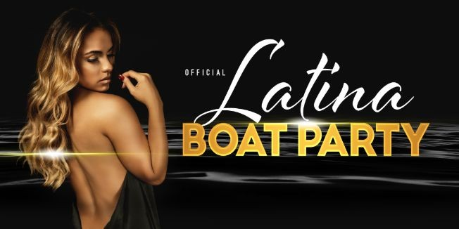Flyer for OFFICIAL Latina Friday Night Boat Party on Luxurious Yacht Cruise Infinity