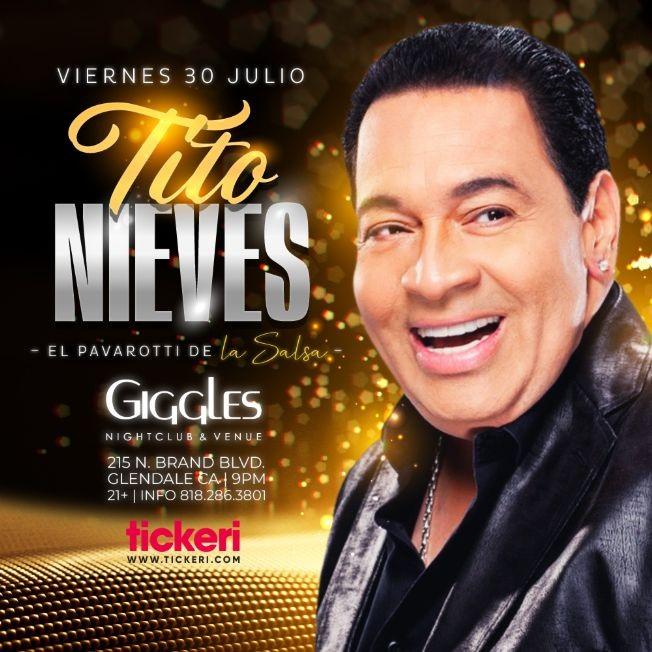 Flyer for TITO NIEVES EN LOS ANGELES