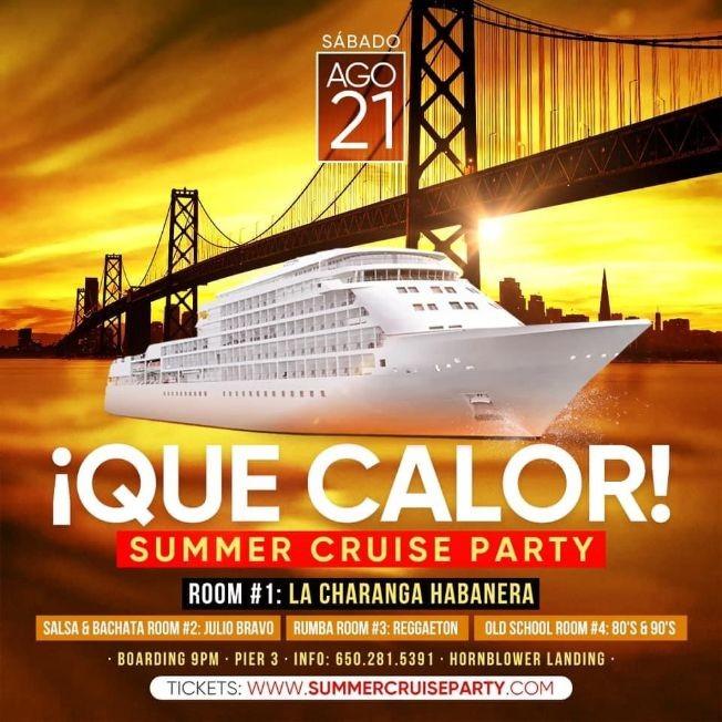Flyer for Que Calor  - Summer Cruise Party