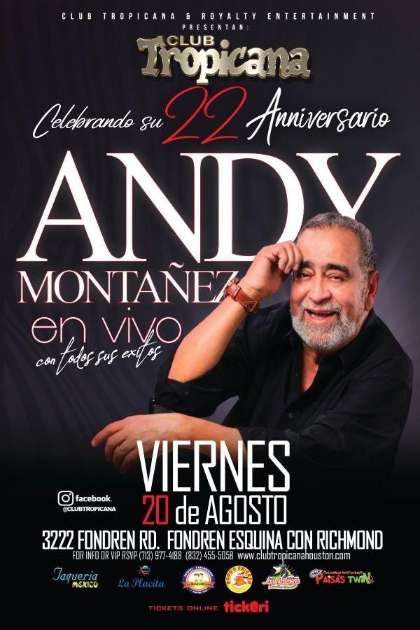 Flyer for ANDY MONTAÑEZ EN CONCIERTO CANCELED