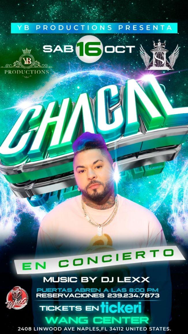 Flyer for Chacal en Concierto