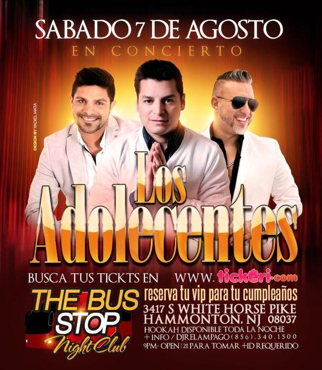 Flyer for LOS ADOLECENTES EN CONCIERTO