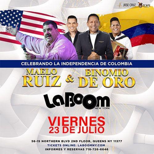 Flyer for MAELO RUIZ, BINOMIO DE ORO EN CONCIERTO