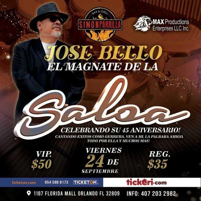 Flyer for JOSE BELLO EL MAGNATE DE LA SALSA