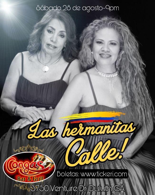 Flyer for Hermanitas Calle en concierto