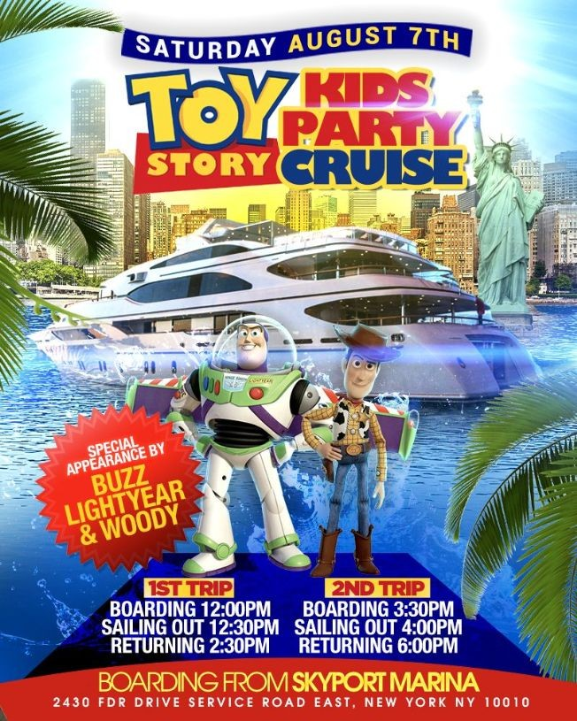 Flyer for Toy Story Kids Party Cruise (3:30pm-6:00pm)