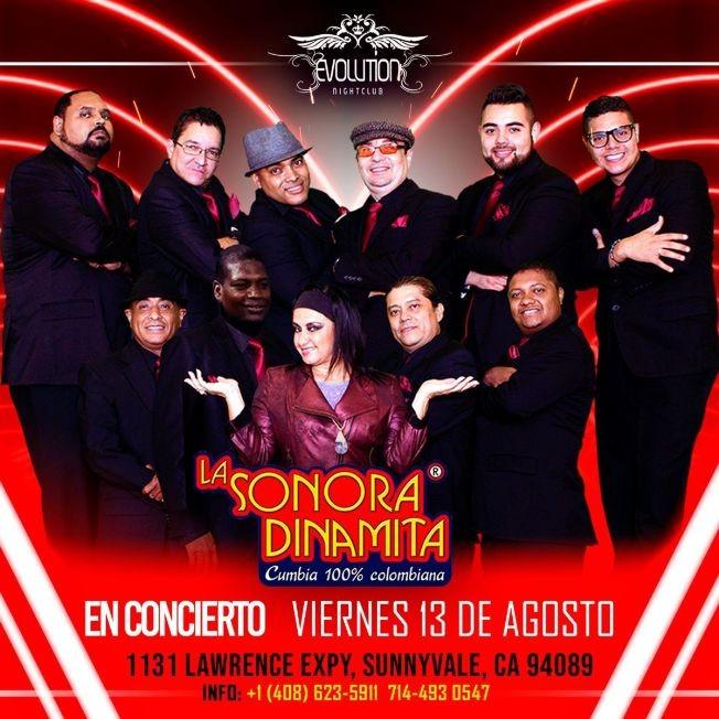 Flyer for LA SONORA DINAMITA CUMBIA 100% COLOMBIANA EN CONCIERTO