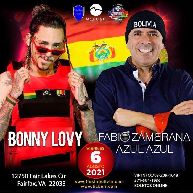 Flyer for FABIO ZAMBRANA AZUL AZUL & BONNY LOVY