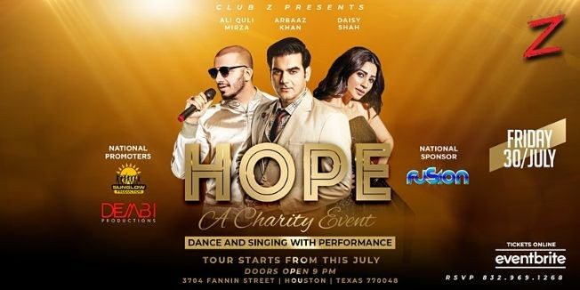 Flyer for HOPE A CHARITY EVENT