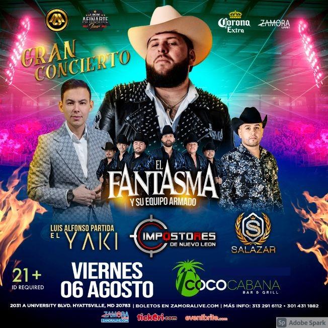 Flyer for EL FANTASMA, EL YAKI y SALAZAR