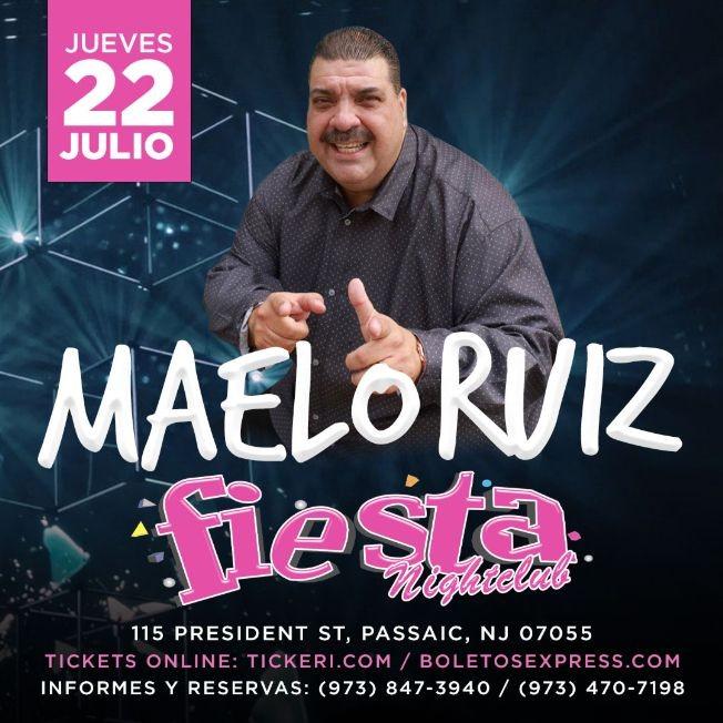 Flyer for MAELO RUIZ EN NEW JERSEY