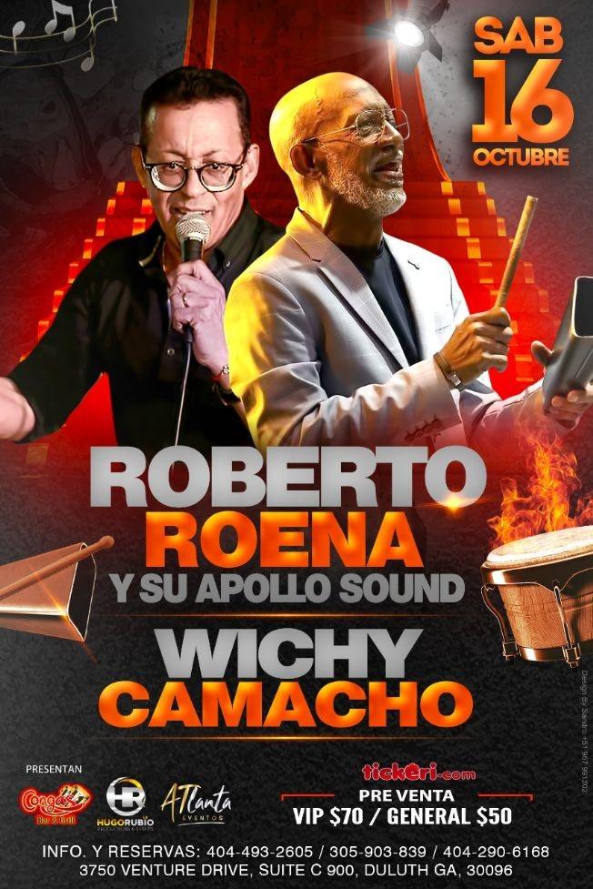 Flyer for Roberto Roena y Wichy Camacho en Congas Bar & Grill