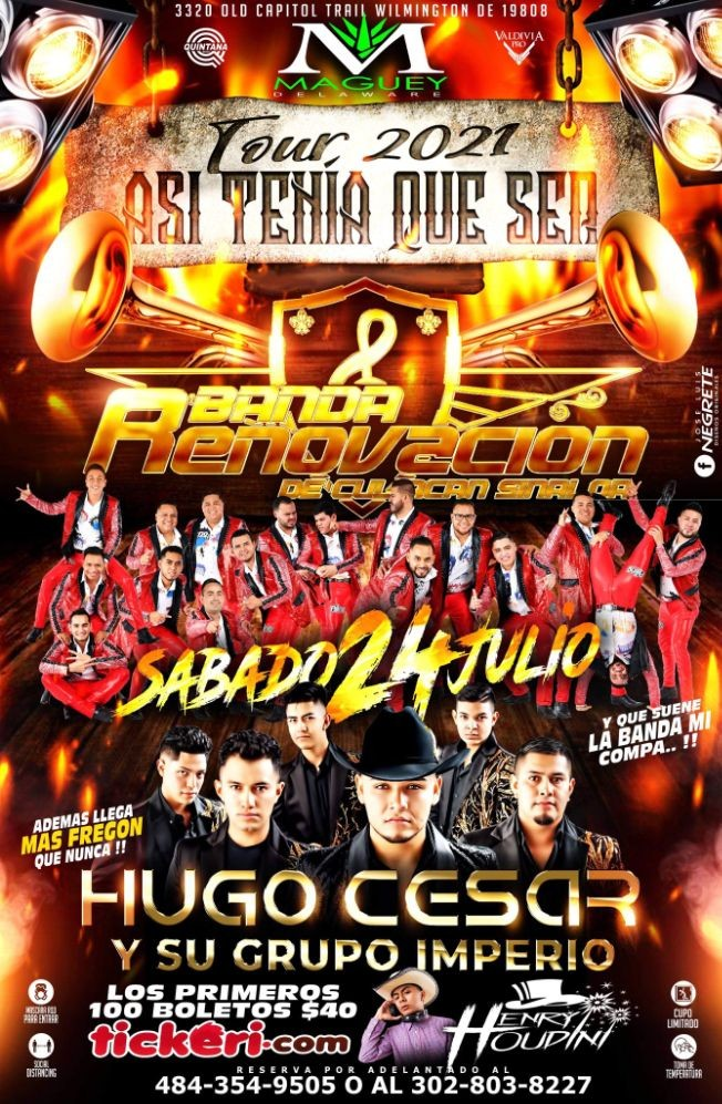 Flyer for Banda Renovacion y Hugo César