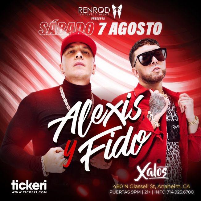 Flyer for ALEXIS Y FIDO EN ANAHEIM
