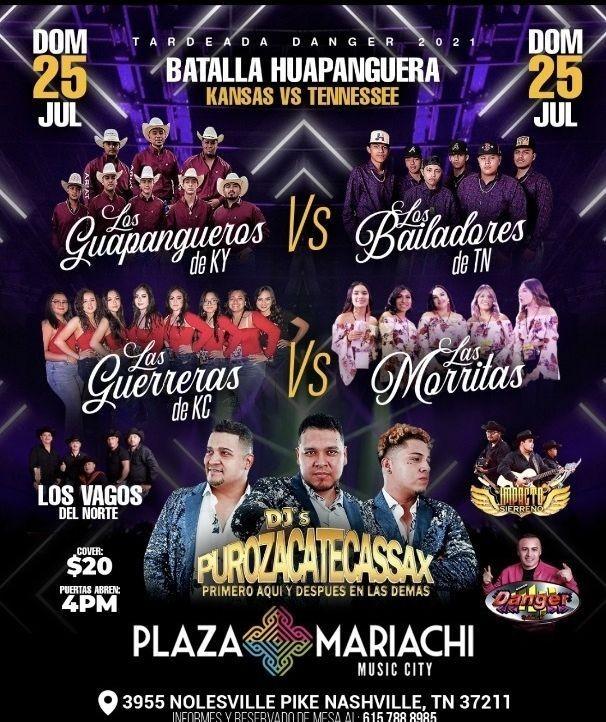 Flyer for Batalla Huapanguera Kansas vs Tennessee!