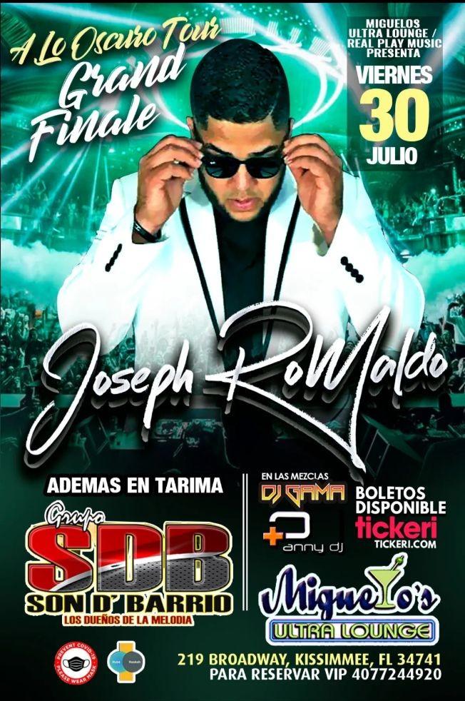 Flyer for JOSEPH ROMALDO LIVE @ MIGUELOS ULTRA LOUNGE