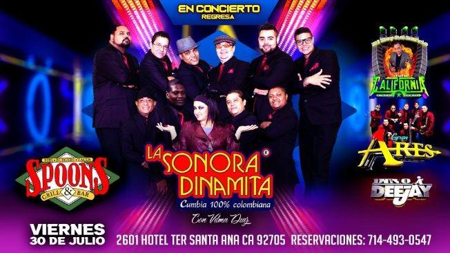Flyer for LA SONORA DINAMITA CUMBIA 100% COLOMBIANA CON VILMA DIAZ EN CONCIERTO EN SANTA ANA CALIFORNIA