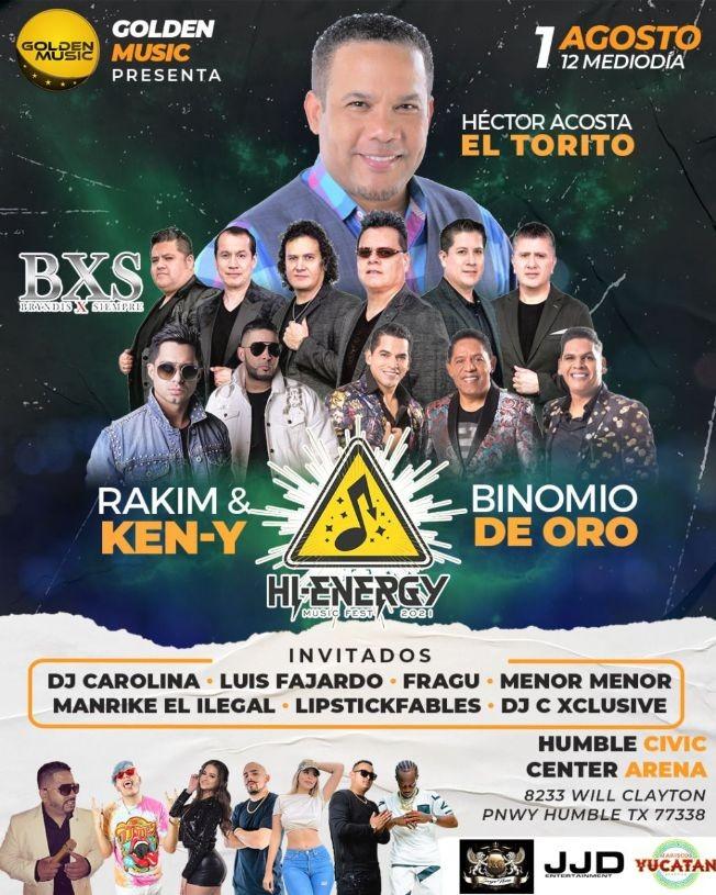 Flyer for HI ENERGY MUSIC FEST 2021 EL TORITO