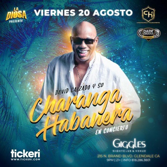Flyer for DAVID CALZADO Y SU CHARANGA HABANERA EN LOS ANGELES