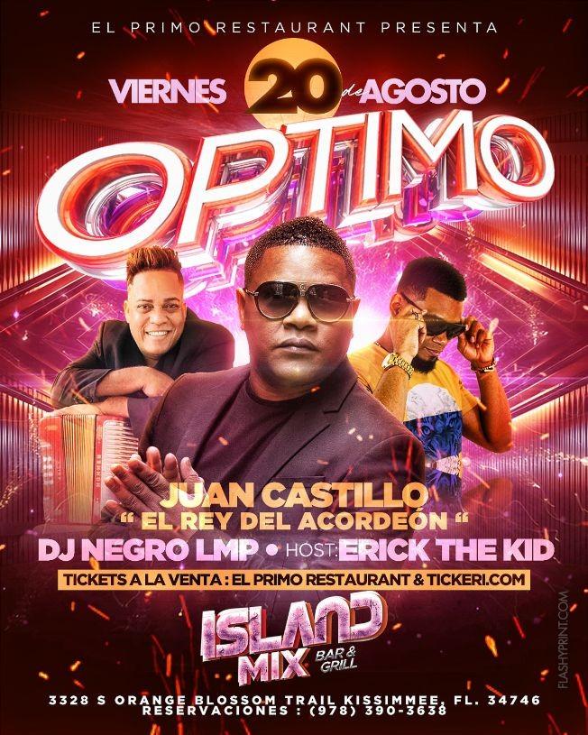 Flyer for OPTIMO EN ORLANDO FL