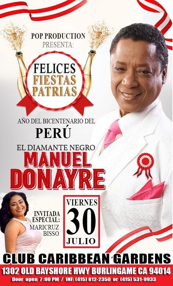 Flyer for MANUEL DONAYRE