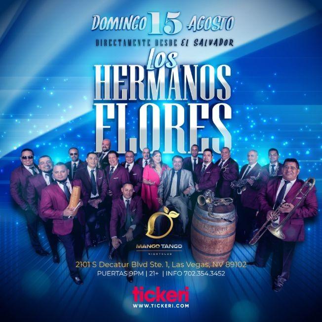 Flyer for LOS HERMANOS FLORES EN LAS VEGAS