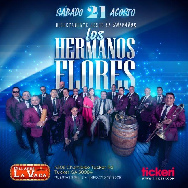 Flyer for LOS HERMANOS FLORES EN ATLANTA