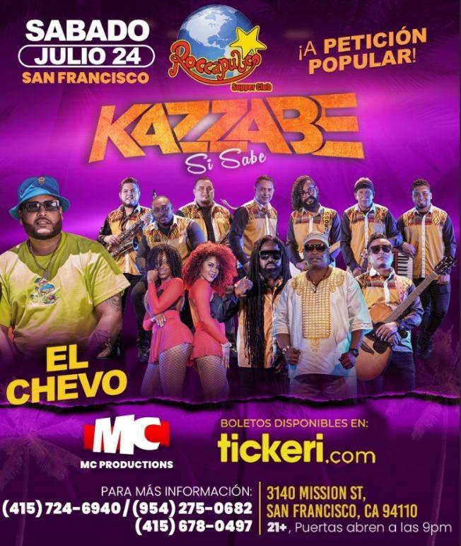 Flyer for Kazzabe Si Sabe y El Chevo en Vivo!