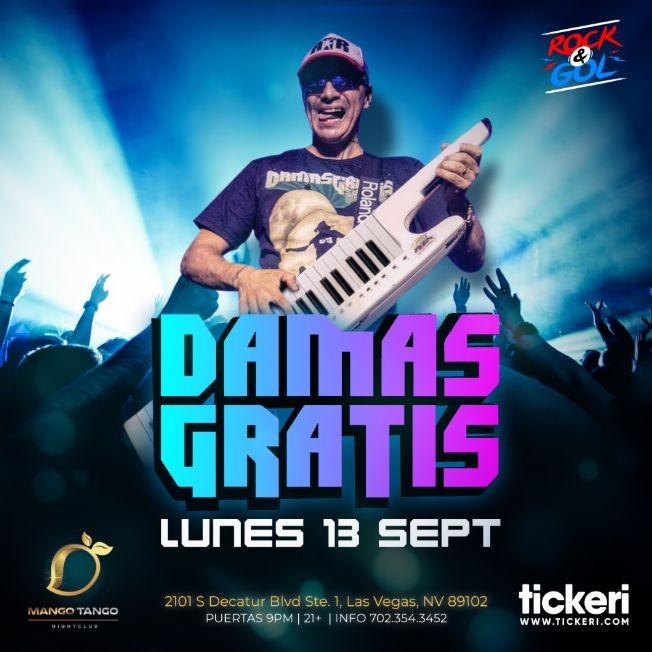 Flyer for DAMAS GRATIS EN LAS VEGAS