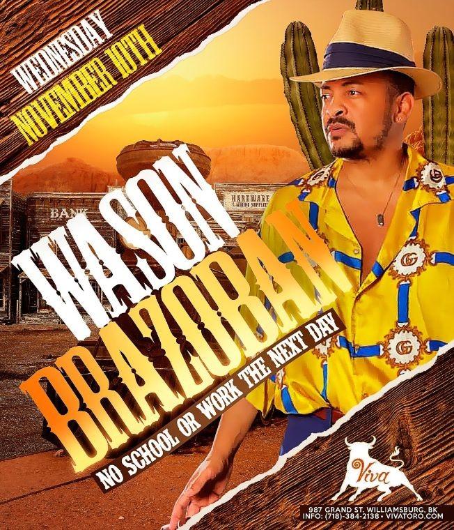 Flyer for WASON BRAZOBAN EN CONCIERTO ! BROOKLYN NEW YORK