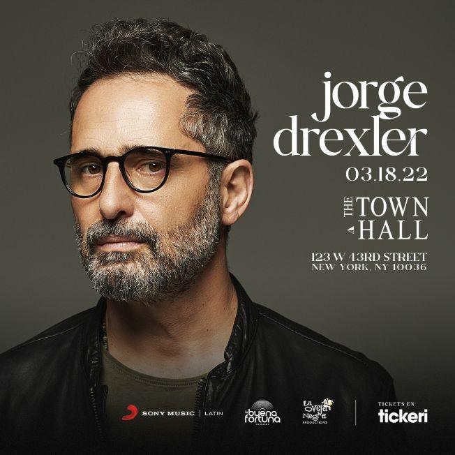 Flyer for Jorge Drexler presenta: Silente / New York CONFIRMED NEW DATE