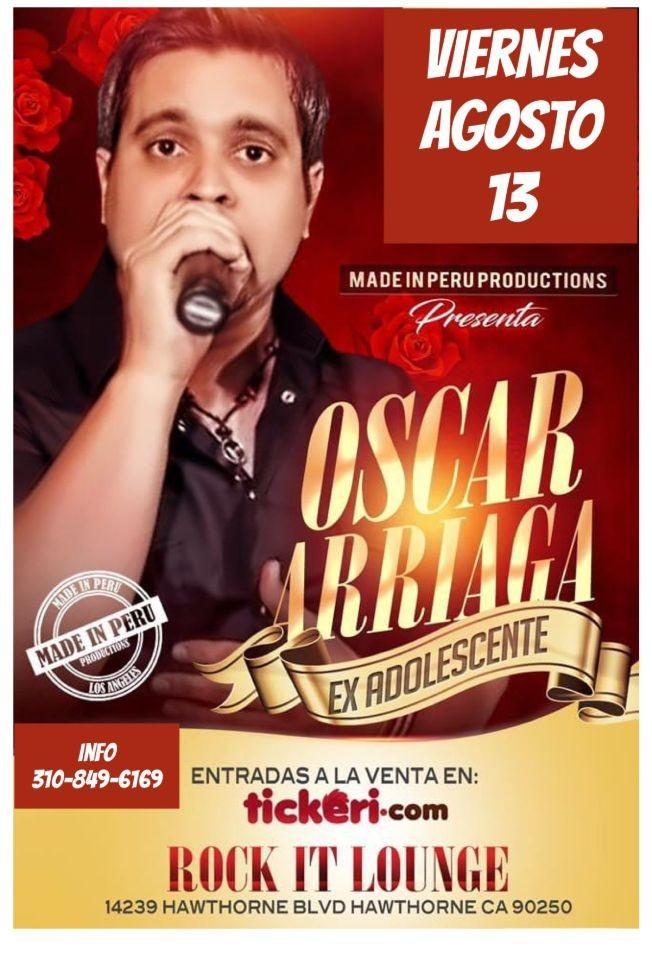 Flyer for Oscar Arriaga Ex adolescentes en Vivo!