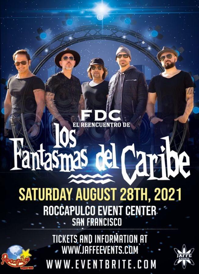 Flyer for LOS FANTASMAS DEL CARIBE DIRECTO DESDE VENEZUELA EN SAN FRANCISCO CALIFORNIA