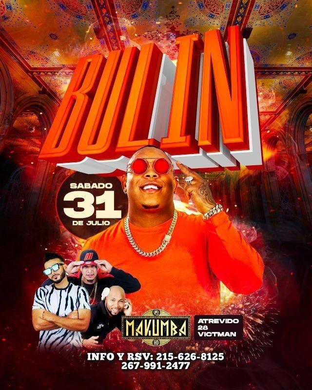 Flyer for BULIN EN CONCIERTO ! PHILADELPHIA PENNSYLVANIA