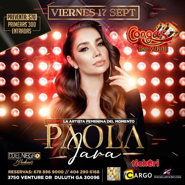 Flyer for PAOLA JARA EN ATLANTA
