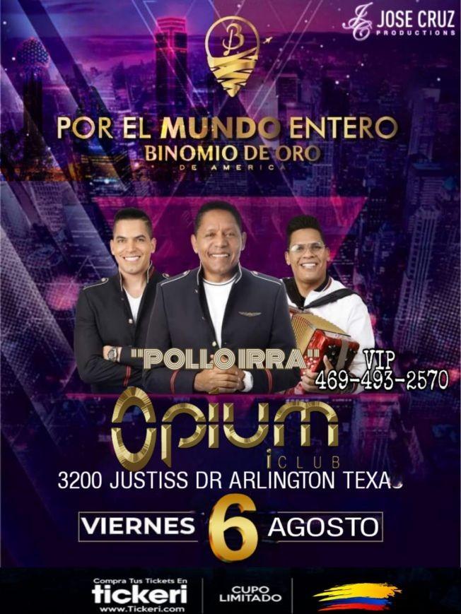 Flyer for BINOMIO DE ORO  EN CONCIERTO ! ARLINGTON TEXAS