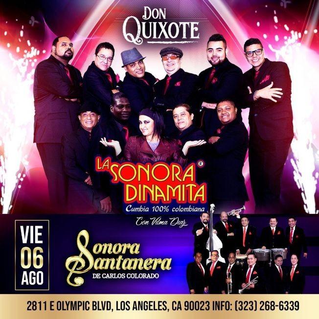 Flyer for LA SONORA DINAMITA CUMBIA 100% CANCELED