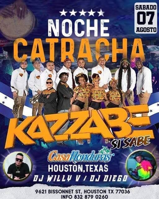 Flyer for Kazzabe en Vivo - Houston, Tx (Casa Honduras)