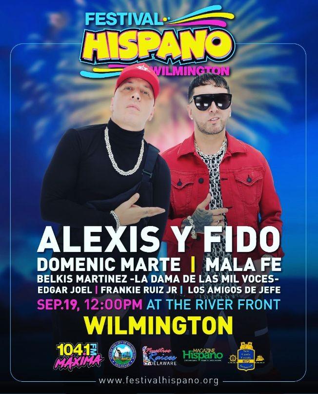 Flyer for Festival Hispano Wilmington